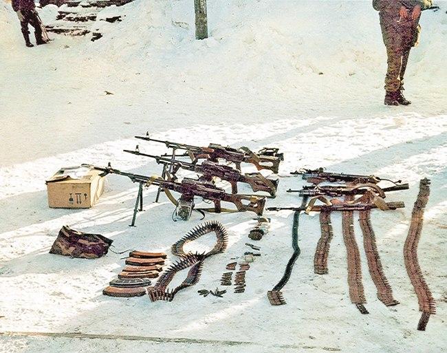 Часть трофеев, доставшаяся спецназу пограничников